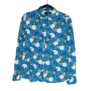 Lands' End | Floral Button Up Shirt NWOT